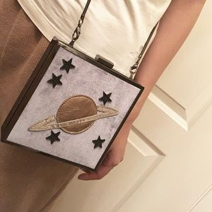 Cosmic Box Bag with chain